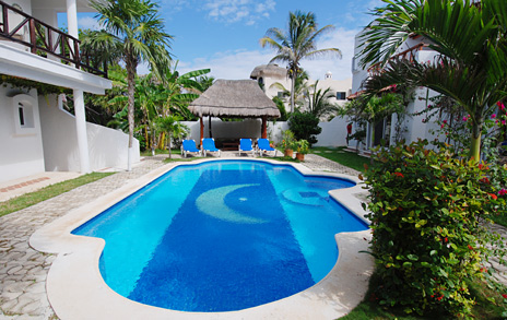 Jade Moon vacation rental villa located on  the Riviera Maya, Jade Beach, Mexico