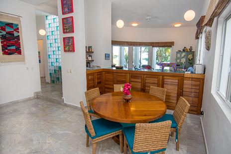 Dining area in Dos Jaguares vacation rental villa in South Akumal
