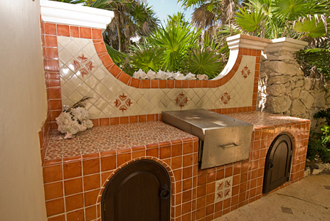 Barbecue grill at  Hacienda Kass  luxury vacation home  on the Riviera Maya south of Akumal