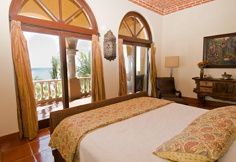 The fourth bedroom  in Hacienda Kass  luxury vacation villa on Soliman Bay on the Riviera Maya south of Akumal