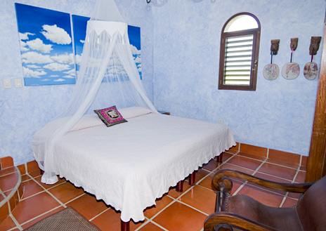 Rooftop bedroom at Hacienda Kass  luxury vacation villa on Soliman Bay on the Riviera Maya south of Akumal