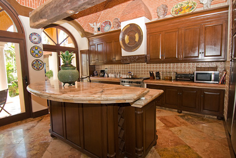 Dream kitchen in Hacienda Kass  luxury vacation villa on Soliman Bay on the Riviera Maya south of Akumal