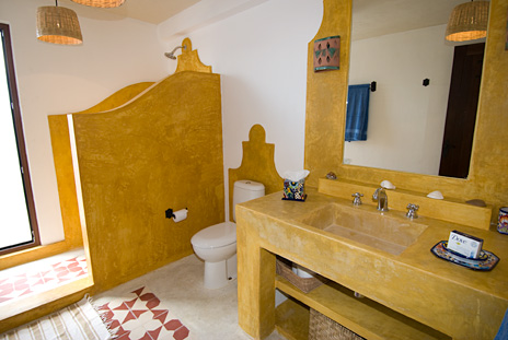 One of the 7.5 bathrooms at villa Kukulkan south of Cancun and Playa del Carmen
