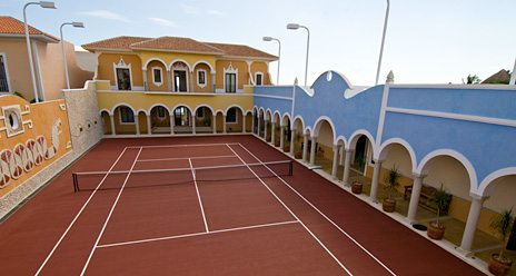Tennis anyone? Hacienda Kukulkan has a private tennis court