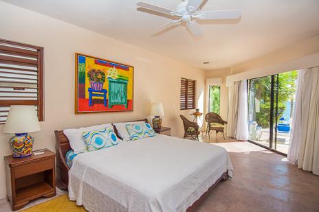 Second bedroom of Ka Kuxta vacation villa in South Akumal, Riviera Maya, Mexico