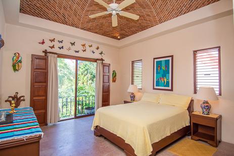 Third bedroom at Ka Kuxta vacation villa in South Akumal, Riviera Maya, Mexico