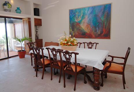 Dining room of Ka Kuxta vacation rental villa in South Akumal