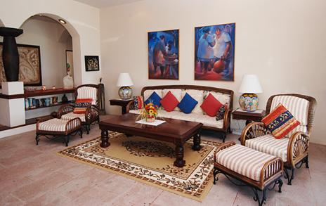 Living room  of Ka Kuxta vacation rental home in South Akumal