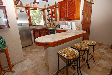 Kitchen Villa Leona Riviera Maya vacation rental villa