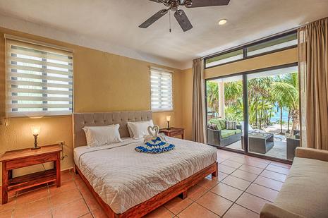 Bedroom #1  of Villa Luminosa vacation rental villa south of Akumal Mexico