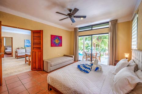 BR #3 of Villa Luminosa vacation rental villa south of Akumal Mexico