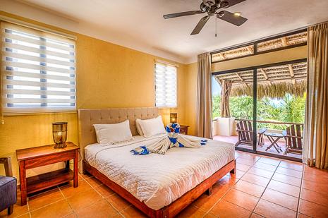 Bedroom #4  of Villa Luminosa vacation rental villa south of Akumal Mexico