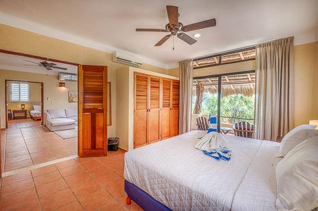 Bedroom #2 of Villa Luminosa vacation rental villa south of Akumal Mexico