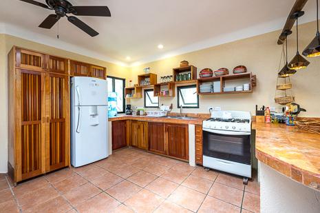 Kitchen of Villa Luminosa vacation rental villa south of Akumal Mexico