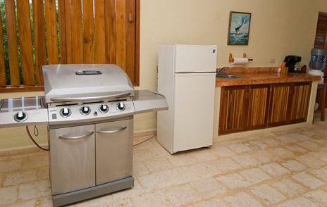 Courtyard kitchen of Villa Luminosa vacation rental villa south of Akumal Mexico