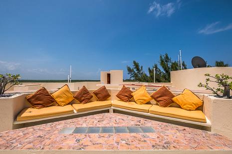 Rooftop bar at  Villa Luminosa vacation rental villa on the Riviera Maya, Mexico
