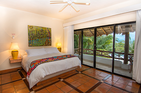 Bedroom of Casa Magica vacation villa on Jade Bay
