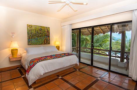 Bedroom of Casa Magica vacation villa on Jade Bay