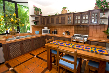 Kitchen at Casa Magica  on Jade Bay near Akumal