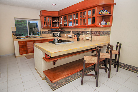 Kitchen Casa Magna Akumal Mexico vacation rental villa