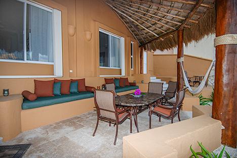 Patio Casa Magna Akumal Mexico vacation rental villa