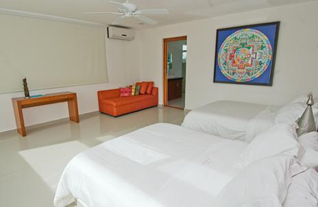 Bedroom #2 in Villa Mandala vacation rental villa on Tankah Bay