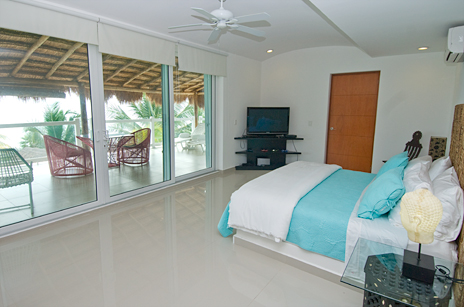 Another view of master suite in Villa Mandala