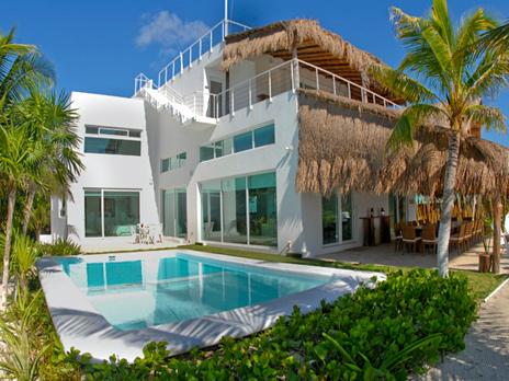 Pool at Villa Mandala Akumal vacation rental home riviera maya on Tankah Bay