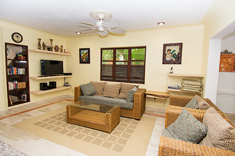 Living area Villa Marcaribe vacation rental villa on Soliman Bay south of Akumal