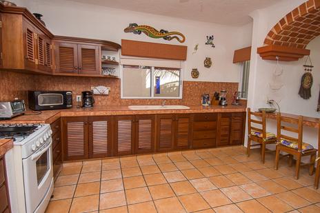 Kitchen at Villa Margaraita vacation rental home on Jade Beach on the Riviera Maya