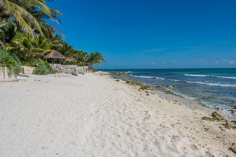View looking from the beach toward Villa Margaraita vacation rental villa on Jade Beach