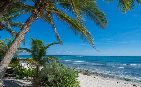 Villa Margaraita vacation rental villa is on Jade Beach south of Akumal