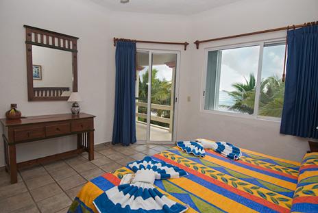 Bedroom #2 at Villa Margaraita vacation rental villa south of Akumal on the Riviera Maya