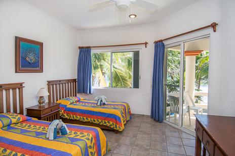 Bedroom #1 at Villa Margaraita vacation rental villa south of Akumal on the Riviera Maya