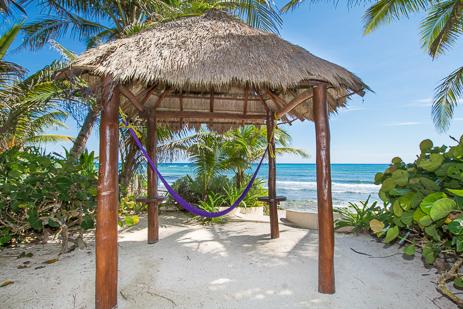 Villa Margaraita vacation rental villa has a palapa patio with hammock