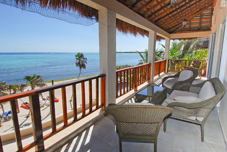 Patio  views at Villa Margarita on Soliman Bay, Riviera Maya, Mexico