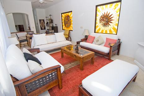 Living room Mayamar Akumal vacation rental