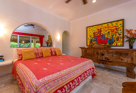Second bedroom of Villa Moonstar vacation rental villa on Soliman Bay, Riviera Maya, Mexico
