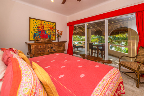 Second bedroom of Villa Moonstar vacation rental villa on Soliman Bay, Riviera Maya, Mexico