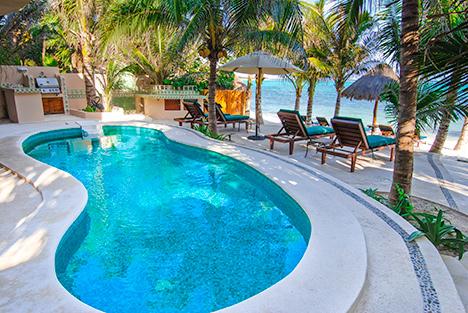Villa Moonstar luxury vacation villa on Soliman Bay, Riviera Maya, Mexico