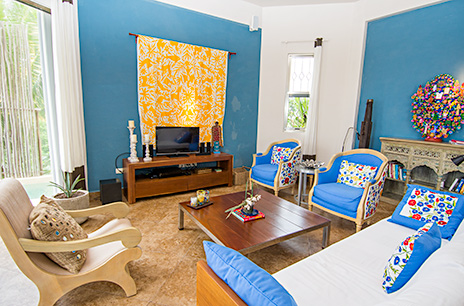 Casa Moto living room