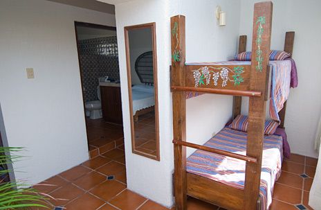 Second alcove with bunks in Villa Nicte Ha vacation rental property in Akumal