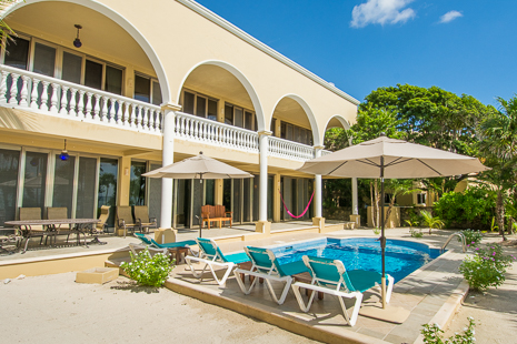 Vilal Orquida luxury vacation rental villa features multiple arches