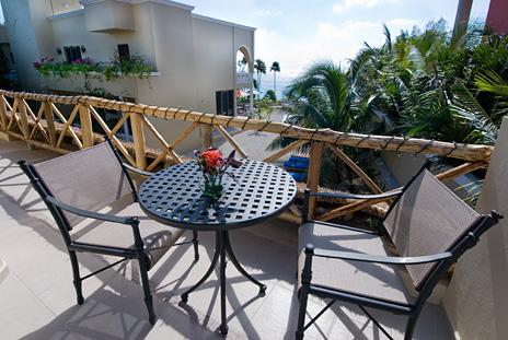 Patio on the second  level of the casita at Villa Orquidea vacation rental villa on Tankah