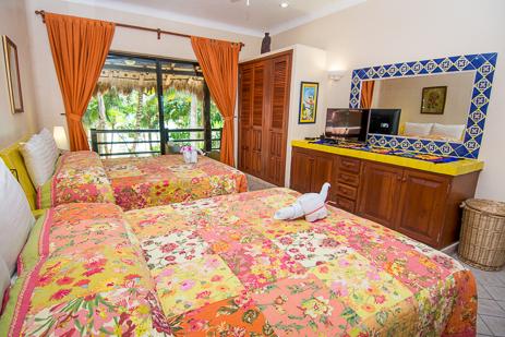 Bedroom #1 at Casa Palmeras Soliman vacation rental home