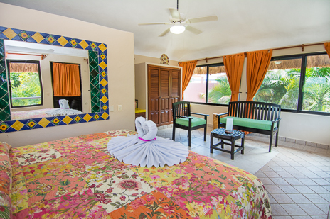Bedroom #3 at Casa Palmeras Soliman vacation rental home
