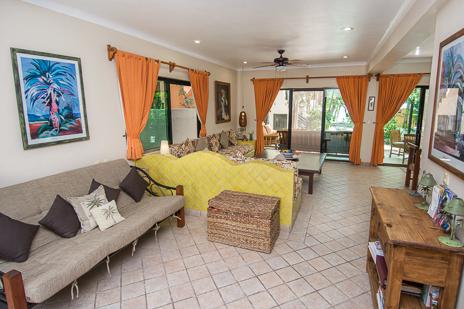 Futon off the livingroom at Villa Palmeras Soliman vacation rental villa south of Akumal