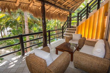 Second floor patio at Villa Palmeras Soliman vacation rental villa