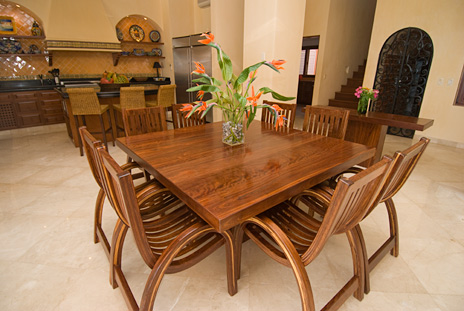 Dining area at villa palmilla vacation rental home near akumal