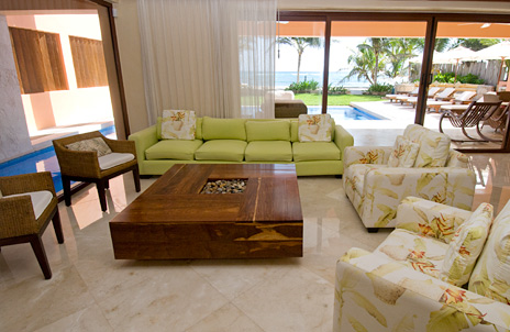 villa palmilla living room at this riviera maya vacational rental home